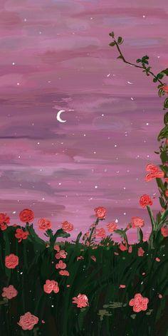 Scenery Wallpaper, Iphone Background Wallpaper, Aesthetic Pastel Wallpaper, Flower Wallpaper, Aesthetic Wallpapers, Screen Wallpaper, Iphone Wallpaper Paint, Simple Iphone Wallpaper, Cartoon Wallpaper