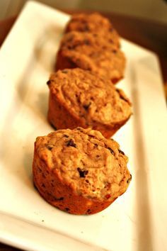 Oatmeal Peanut Butter Chocolate Chip Muffins - these are THE best healthy muffins I've ever tried and my kids LOVE them. They ask for them all the time! WIN!
