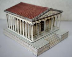 PAPERMAU: The Ancient Temple Paper Model - by Papermau - Assembled by Unknown