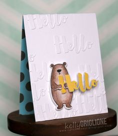 MFT Hello there die; hello die; clean and simple; honey bear; adorable