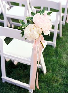 Wedding ● Chair Décor ● pink Garden Chair