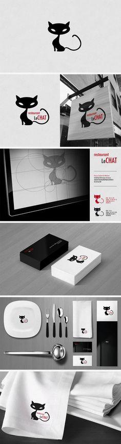 Création d'identité graphique pour le restaurant Le chat | Nicolas Leonard