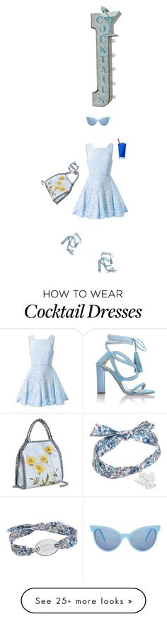 """""""CTD"""" by alynncameron on Polyvore featuring Alex Perry, STELLA McCARTNEY, Chelsea Paris, Wildfox, Merci Maman, Crystal Art and cocktaildress"""
