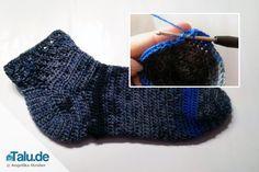 Häkelanleitung für Anfänger: Socken häkeln