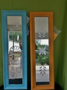Upcycled Painted Frosted Mirrors via Etsy