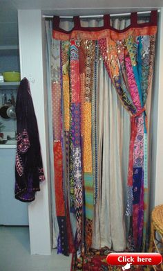 Bohemian Dream bright metallic fabrics door curtain Gypsy sequins boho chic decor TAKING Custom Orders-Bohemian Dream bright ethnic fabric door by TheSleepyArmadillo www. Bohemian House, Bohemian Decor, Boho Chic, Gypsy Decor, Bohemian Gypsy, Bohemian Curtains, Diy Curtains, Bright Curtains, Rideaux Boho