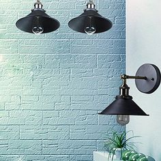 Classical Industrial Vintage Nostalgic Wall Lamps Simple Style Wall Lights Little Umbrella Lamp Light Fixtures For Bar Cafe Home Industrial Wall Lights, Vintage Wall Lights, Industrial Light Fixtures, Wall Light Fixtures, Vintage Walls, Candle Wall Sconces, Wall Sconce Lighting, Wall Lamps, Indoor Wall Lights