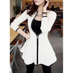 Wholesale Simple Design Zippered Round Neck Long Sleeve Ruffled Dress For Women Only $7.41 Drop Shipping | TrendsGal.com