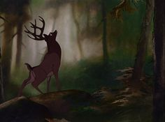Screencap Gallery for Bambi Bluray, Disney Classics). The animated story of Bambi, a young deer hailed as the 'Prince of the Forest' at his birth. As Bambi grows, he makes friends with the other animals of Walt Disney, Bambi Disney, Disney And Dreamworks, Disney Cartoons, Disney Magic, Disney Pixar, Disney Animated Movies, Cartoon Movies, Bambi Art