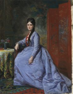 Bassecourt and Luisa Pacheco, Federico de Madrazo y Kuntz. Oil on panel, 41 x 32 cm, 1869. Small portrait.