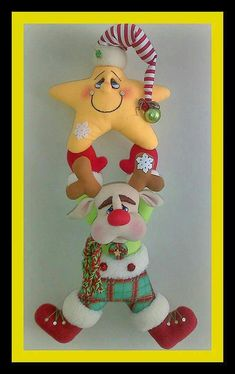 Xinia Jimenez's media content and analytics Felt Christmas Ornaments, Hanging Ornaments, Christmas Elf, Christmas Lights, Felt Crafts, Diy And Crafts, Holiday Fun, Holiday Decor, Santa Figurines
