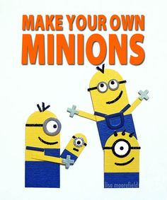 Crafty Time: Paper Minions - Things To Do Yourself - DIY