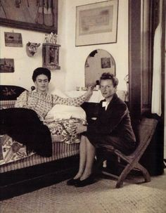 Frida Kahlo and Emmy Lou Packard -