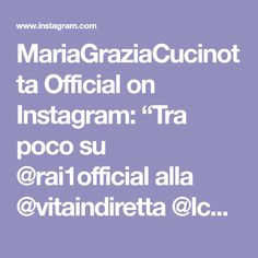 "MariaGraziaCucinotta Official on Instagram: ""Tra poco su @rai1official alla @vitaindiretta @lcuccarini #rai1 #tv #mariagraziacucinottastyle #mariagraziacucinotta @glamconfidential…"""