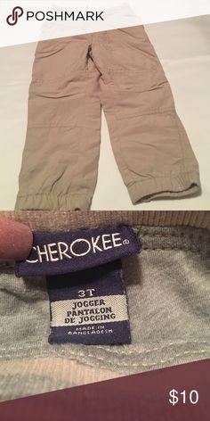 Cherokee Toddler Boys Lined Jogging Pants Cute, warm joggers for toddler boy by Cherokee Cherokee Bottoms Sweatpants & Joggers