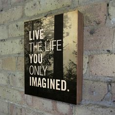 Live the Life You Only Imagined