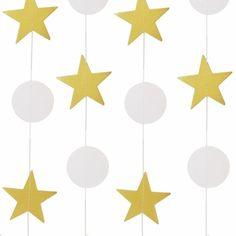 Stars and Stripes Forever! Give your of July party decorations some astronomical flair with star-shaped garland. Drape over doorways, across tables, or incorporate into your back drops!