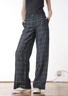 Wide Leg Trouser pattern (Burda Style). A Classic white linen? Cotton print such as Jonathan Simkhai? Or classic gray or black.
