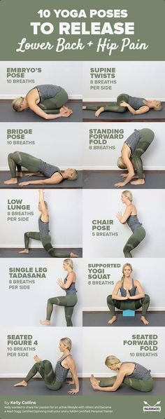 Get a Sexy Body Doing Yoga - Relieve lower back and hip pain with these yoga stretches. Get a Sexy Body Doing Yoga - Yoga Fitness. Introducing a breakthrough program that melts away flab and reshapes your body in as little as one hour a week! Yoga Fitness, Fitness Workouts, At Home Workouts, Fitness Motivation, Health Fitness, Yoga Workouts, Cardio Yoga, Hip Workout, Women's Health