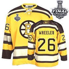 Bruins Stanley Cup Finals Patch  26 Blake Wheeler Embroidered Winter  Classic Yellow NHL Jersey  . Nathan HortonNhl ... dae8f9261