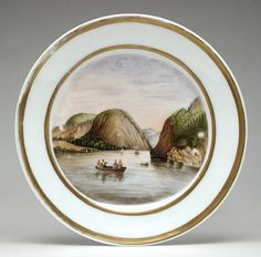 William Ellis Tucker Factory (United States, 1826-1838), Plate, 1828-1838, Los Angeles County Museum of Art, Gift of Mrs. William C. Reeder (M.88.183.1),