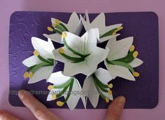 Carol's pop-up cards and tutorials are amazing!  This is for her seven flower pop up card.  Love it!