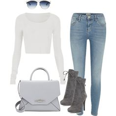 A fashion look from September 2015 featuring River Island jeans, Prada ankle booties and Givenchy handbags. Browse and shop related looks.
