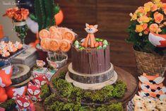 Recepções - CHÁ DE BEBÊ DO RAFAEL - LARANJEIRAS, SERRA - ES Woodland Party, Birthday Cake, Desserts, Party Ideas, Food, Kid Birthdays, Baby Party, Fox Party, Baby Tea