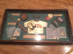 Vintage Antique Replica Baseball  Shadow Box by KMSCollectibles
