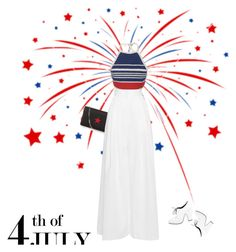 """""""Happy 4th of July"""" by sharmarie ❤ liked on Polyvore featuring Givenchy, Vika Gazinskaya, Rachel Comey, redwhiteandblue and july4th"""