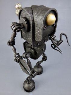 welding art for beginners Metal Sculpture Artists, Steel Sculpture, Sculptures, Steampunk Robots, Steampunk Design, Metal Welding, Welding Art, Arte Robot, Scrap Metal Art