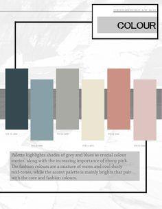 Afbeeldingsresultaat voor pantone f/w 2018 2019 Palettes Color, Colour Pallete, Colour Schemes, Modern Color Palette, Color Combinations, Color Trends 2018, 2018 Color, Stoff Design, Color Stories