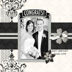 Wedding Digital #Scrapbooking Layout from Creative Memories  http://www.creativememories.com