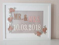 Endlich ist es soweit, ich darf Dir den nächsten Kundenauftrag zur Hochzeit zeigen.  Ein Rahmen von einem blau/gelben Möbelgeschäft mit Licht und passender Glückwunschkarte zur Hochzeit.  Gefällt er Dir?
