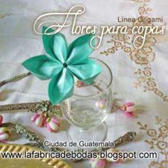 Nuestras flores para Decoración de copas en guatemala  para mesas de invitados color aqua-celeste tiffany . Variedad de colores disponibles. Info al 58602962 también whastapp www.lafabricadebodas.blogspot.com