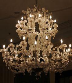 Venetian glass chandelier...I believe this is in the Europa e Regina hotel in Venezia.