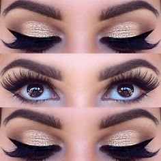 Golden eye shadow