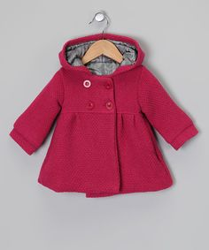 Take a look at this Raspberry Hooded Swing Coat - Infant & Toddler on zulily today!