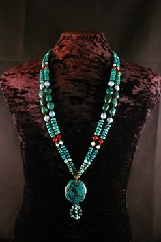 Turquoise Necklace Native American Jewelry by ByDivineCollectibles
