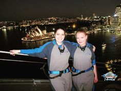 """Flashback to that one time 3 years ago my sister dragged my nervous self to the top of Sydney Harbour Bridge to """"conquer my fear of heights"""". #achievement #2012 #Sydney #bridgeclimb #sydneyharbourbridge #Australia #heights #fearofheights #nervousashell #conqueredit #didntcureit #onesie #sisters #citylights #operahouse #harbour #nighttime #sydneyafterdark by darlingidareyou http://ift.tt/1NRMbNv"""