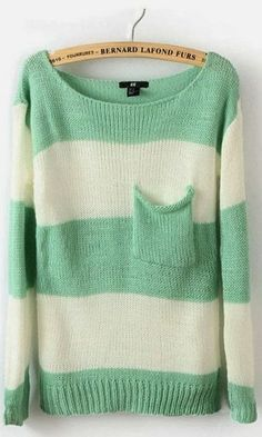 Sweater Mint Stripes