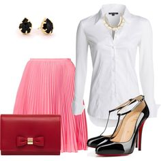 """Camisa branca"" by gessilene-ferreira on Polyvore"
