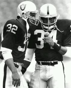 Marcus Allen & Bo Jackson two great RB's in the same backfield if only they played together more years. .