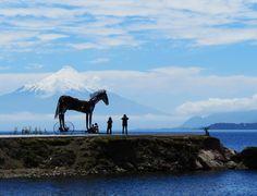 """Escultura """"Cavalo de Troia"""" Puerto Varas"""