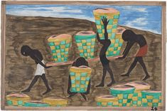 Jacob Lawrence, Child labor and a lack of education was one of the other reasons for people wishing to leave their homes. (1941)