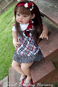 Ella Mae by Jannie De Lange Reborn Toddler MicroRooted Human Hair