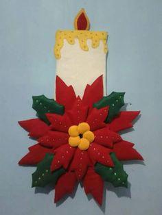 Vela navideña Diy Christmas Angel Ornaments, Christmas Applique, Outdoor Christmas Decorations, Christmas Angels, Christmas Crafts, Preschool Displays, Alcohol Ink Crafts, Holiday Crafts, Holiday Decor