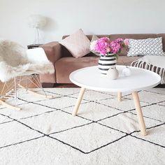 Bereber alfombra crema