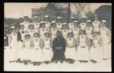 Foto AK - Gruppe Krankenschwestern - 1.WK