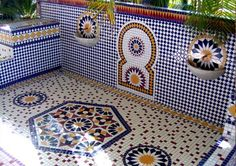 moroccan inspired fountain
